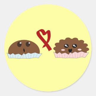 food love classic round sticker