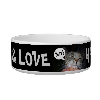 Food + Love = Happy Cat! Bowl