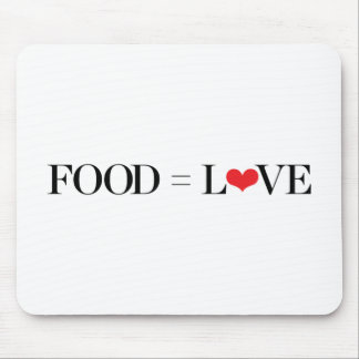 Food = Love Mouse Pad