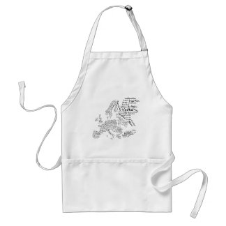 Food Map of Europe Adult Apron
