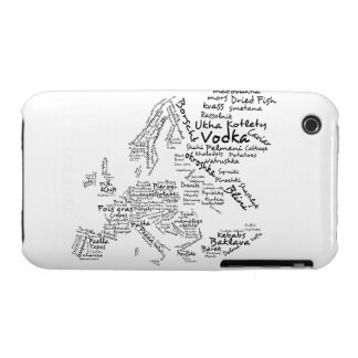 Food Map of Europe iPhone 3 Cover