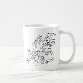 Food Map of Europe Classic White Coffee Mug