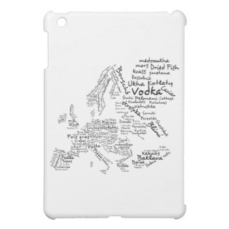 Food Map of Europe Case For The iPad Mini