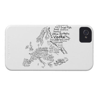Food Map of Europe iPhone 4 Case-Mate Case