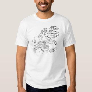 Food Map of Europe T Shirt