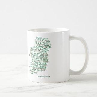 Food Map of Ireland Mug Basic White Mug