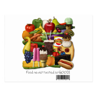 Food Never Tasted So Good!  Gluten Free Message Postcard