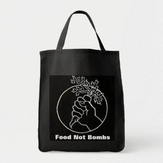food not bombs black grocery bag