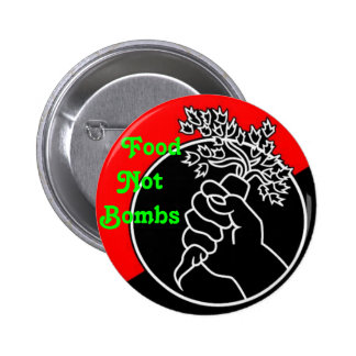 Food Not Bombs Pinback Buttons