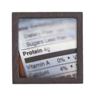 Food nutrition label premium trinket boxes