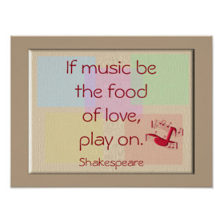 Food of love -- art print -Shakespeare quote