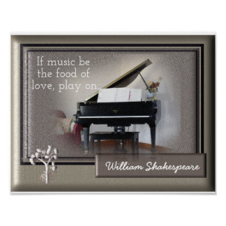 Food of Love -Shakespeare quote - art print
