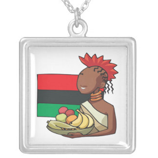 Food Offering Square Pendant Necklace