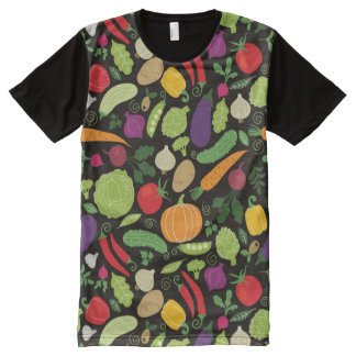 Food on a black background All-Over-Print T-Shirt