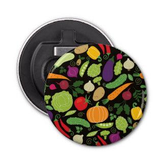 Food on a black background bottle opener