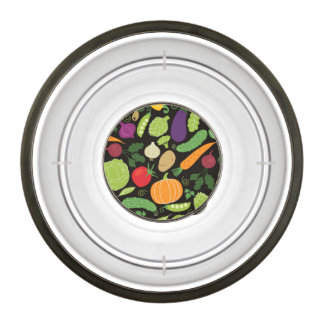 Food on a black background bowl