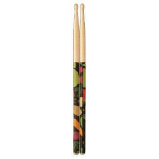 Food on a black background drumsticks