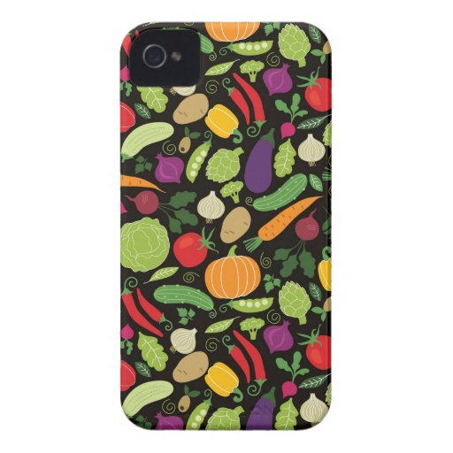 Food on a black background iPhone 4 Case-Mate case