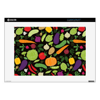 Food on a black background laptop decal