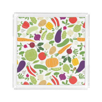 Food on a white background acrylic tray