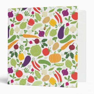 Food on a white background binder