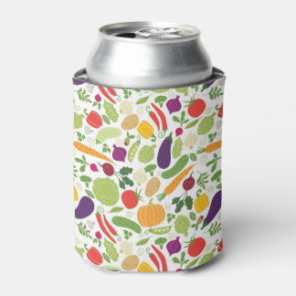 Food on a white background can cooler