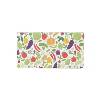 Food on a white background checkbook cover