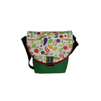 Food on a white background courier bag