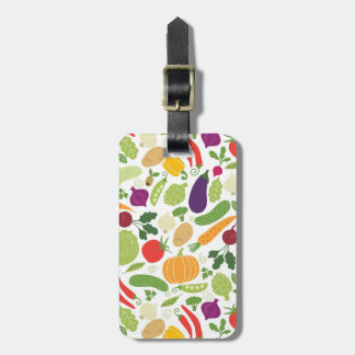 Food on a white background luggage tag