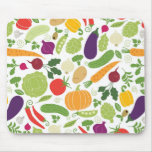 Food on a white background mouse pad