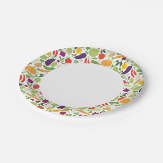 Food on a white background paper plate