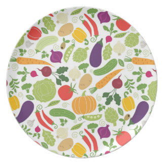 Food on a white background plates