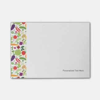 Food on a white background post-it notes
