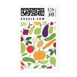 Food on a white background postage