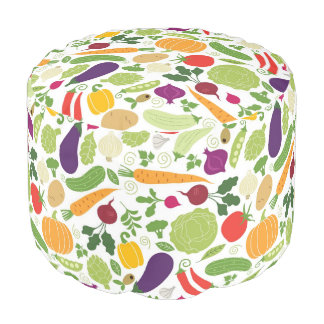 Food on a white background pouf