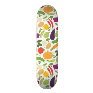 Food on a white background skateboard deck