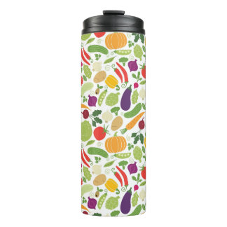 Food on a white background thermal tumbler