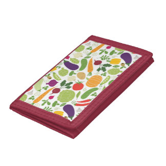 Food on a white background tri-fold wallet