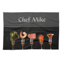 Food on Forks Kitchen Towel