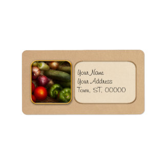 Food - Onions, Tomatoes, Peppers, and Cucumbers Personalized Address Labels