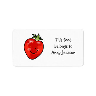 Food owner labels red strawberry