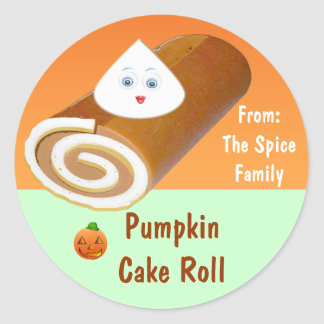 Food Packaging Labels :: Pumpkin Roll Stickers