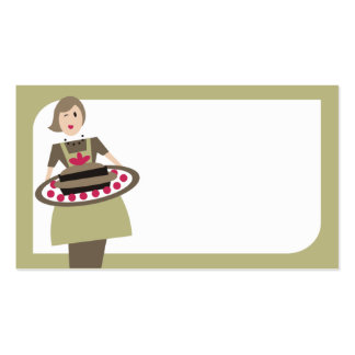 food party platter catering girl business card