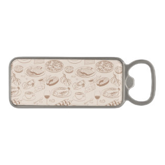 Food Pattern 3 2 Magnetic Bottle Opener