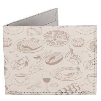 Food Pattern 3 Billfold Wallet