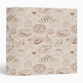 Food Pattern 3 Binder