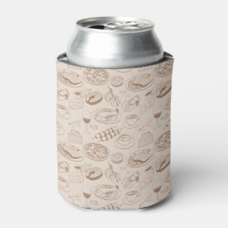 Food Pattern 3 Can Cooler