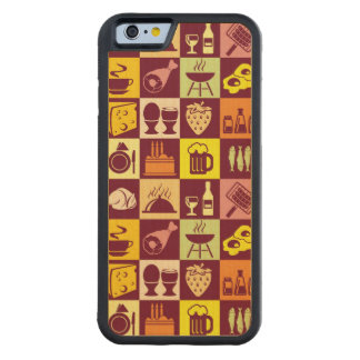 Food Pattern 3 Carved® Maple iPhone 6 Bumper