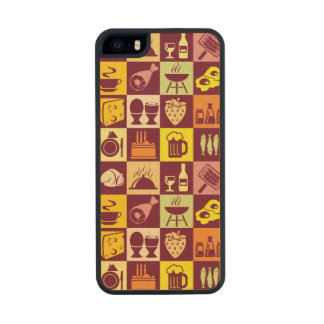 Food Pattern 3 Carved® Maple iPhone 5 Slim Case