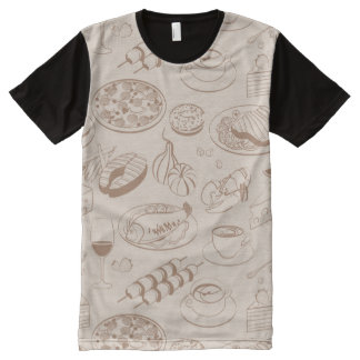 Food Pattern 3 All-Over Print T-shirt